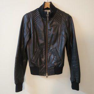 MACKAGE FOR ARITZIA Black Lamb Leather Bomber